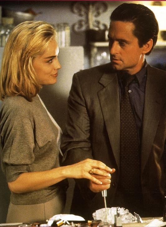 'Basic Instinct' (1992): Michael Douglas played a police detective investigating a vicious murder, but comes to learn that a seductive young woman may be involved.