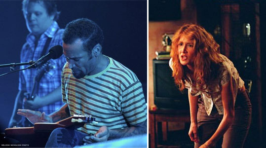 Musician Ben Harper and actress Laura Dern...