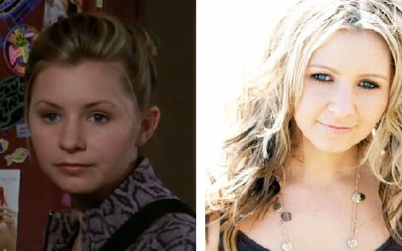 Beverley Mitchell appears in a promotional photo for '7th Heaven.' / Beverly Mitchell appears in a photo posted on her MySpace.