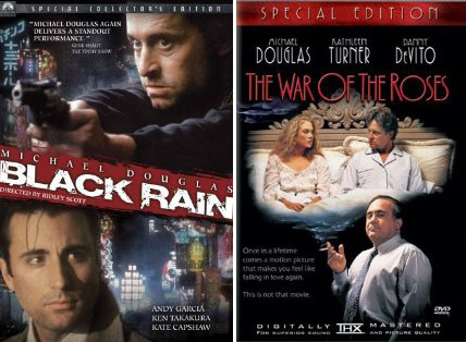 Five days after filming ceased for 'Black Rain' (1989), Michael Douglas started filming 'War of the Roses' (1989).