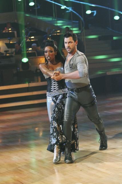 "<div class=""meta ""><span class=""caption-text "">Brandy and Maksim Chmerkovskiy perform on 'Dancing With the Stars,' Monday, Oct. 25, 2010. The judges gave the couple 26 out of 30 for individual and 10 points for winning dance marathon for a total of 36. (ABC Photo/Adam Larkey)</span></div>"