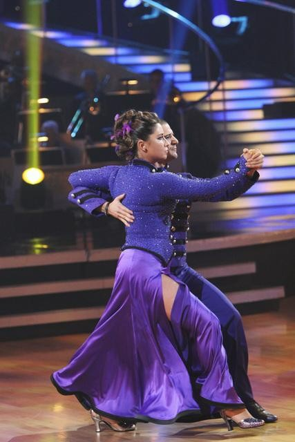 Bristol Palin and Mark Ballas perform on &#39;Dancing With the Stars,&#39; Monday, Oct. 25, 2010. The judges gave the couple 23 out of 30 for individual and 5 points for the dance marathon for a total of 28. <span class=meta>(ABC Photo&#47;Adam Larkey)</span>