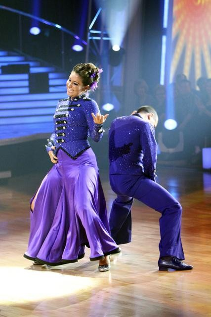 Bristol Palin and Mark Ballas perform on 'Dancing With the Stars,' Monday, Oct. 25, 2010. The judges gave the couple 23 out of 30 for individual and 5 points for the dance marathon for a total of 28.