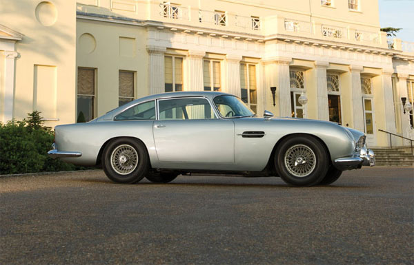 The silver 1964 Aston Martin DB5 car used by...