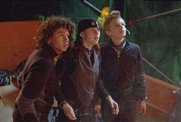 "<div class=""meta ""><span class=""caption-text "">Kristen Stewart's first starring role was in 'Catch that Kid' with 'High School Musical' alum Corbin Bleu. Pictured from left to right: Corbin Bleu, Kristin Stewart and Max Thieriot.   (Photo courtesy of Fox 2000 Pictures)</span></div>"