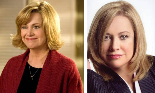 Catherine Hicks appears in a scene from the movie, 'The Genesis Code.' / Catherine Hicks appears in a scene from the TV show, '7th Heaven.'