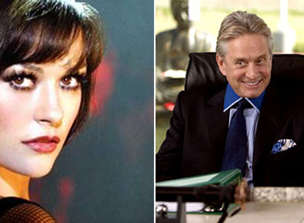 Michael Douglas and actress Catherine Zeta-Jones share the same birthday, September 25.  Michael is exactly 25 years older than his wife. Pictured: Catherine Zeta-Jones in a scene from 'Chicago' and Michael Douglas in a scene from 'You, Me and Dupree'