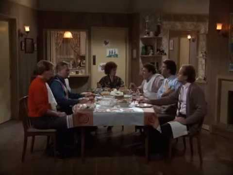 &#39;Cheers&#39; - &#39;Thanksgiving Orphans&#39;:  In this episode the &#39;Cheers&#39; characters decide to spend Thanksgiving together at Carla&#39;s.  The gigantic turkey, dubbed &#39;Birdzilla&#39; by Carla, take forever to cook and a food night ensues. <span class=meta>(Photo courtesy of Paramount Television)</span>