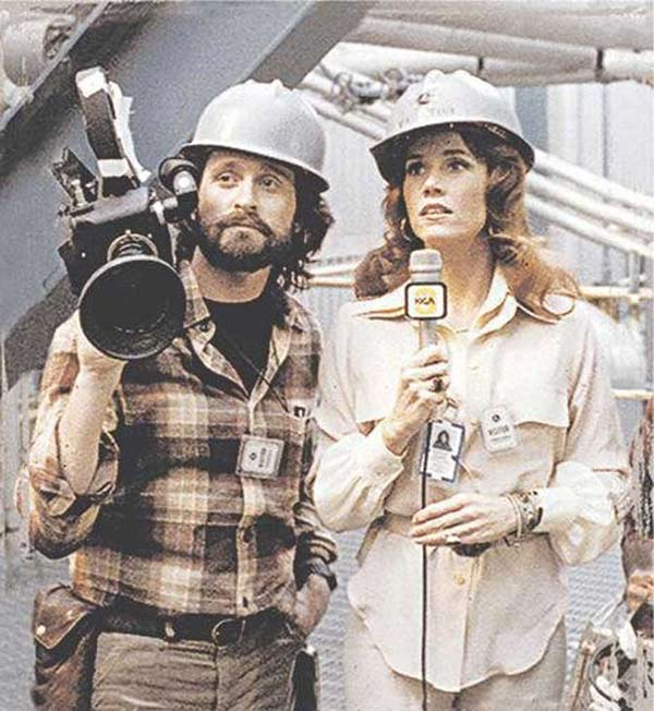 In 1979, Michael Douglas starred in &#39;The China Syndrome&#39; with Jane Fonda, which was a film about a nuclear power plant disaster.  Twelve days after the film&#39;s release, the Three Mile Island accident occurred.  <span class=meta>(Photo courtesy of IPC Films)</span>