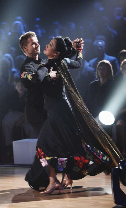 Comedian Margaret Cho  and Louis Van Amstel perform on &#39;Dancing With the Stars,&#39; Monday, Sept.  20, 2010. The judges gave the couple 15 points out of 30. <span class=meta>(ABC Photo&#47; Adam Larkey)</span>