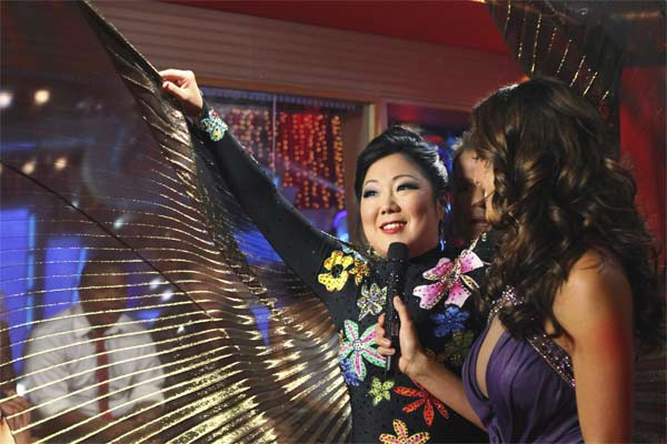 "<div class=""meta ""><span class=""caption-text "">Comedian Margaret Cho speaks with host Brooke Burke on 'Dancing With the Stars,' Monday, Sept.  20, 2010. The judges gave the couple 15 points out of 30. (ABC Photo/ Adam Larkey)</span></div>"