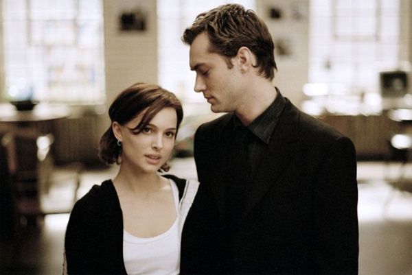 Natalie won a Golden Globe and an Oscar nomination for her role in the drama, 'Closer.' Pictured: Natalie Portman and Jude Law in a scene from 'Closer.'