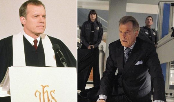 Stephen Collins, who will be 64 in October 2011, played Rev. Eric Camden on the drama series &#39;7th Heaven.&#39; He also played Dr. Gabriel &#39;Gabe&#39; Sorenson  on the show &#39;Sisters.&#39; After &#39;7th Heaven&#39;s 10-year run, Collins appeared on shows such as &#39;It&#39;s Always Sunny in Philadelphia,&#39; &#39;Law and Order: Special Victims Unit,&#39; and &#39;Brothers and Sisters.&#39; Collins then had recurring roles as The Captain in &#39;Private Practice,&#39; and as Dr. Dayton King in &#39;No Ordinary Family,&#39; which premiered in 2010 and ran for one season. In 2011, Collins filmed the movie &#39;The Three Stooges,&#39; which is directed by the Farrelly brothers and is set for release in 2012. Collins portrays the character of Mr. Harter.  Collins has been married to actress, Faye Grant since 1985. They have a daughter named Kate, born in 1989. &#40;Pictured: Stephen Collins appears in a promotional photo for the TV show, &#39;7th Heaven.&#39; &#47; Stephen Collins appears in a scene from the TV show, &#39;No Ordinary Family.&#39;&#41;  <span class=meta>(Spelling Television &#47; ABC &#47; Jordin Althaus)</span>