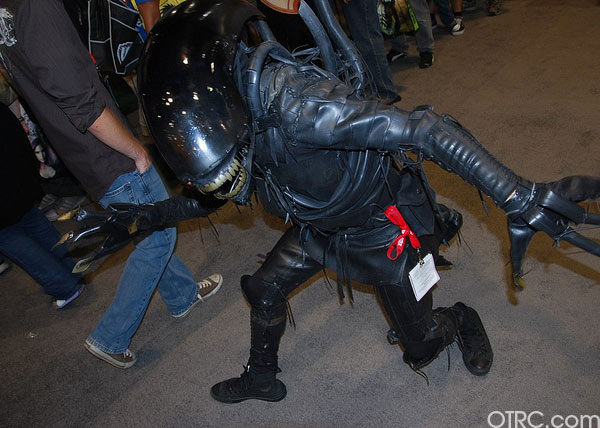 'Alien' was just one of the costumes seen at Comic-Con in San Diego on Saturday July 24, 2010.