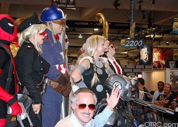 The Avengers were just few of the costumes seen...