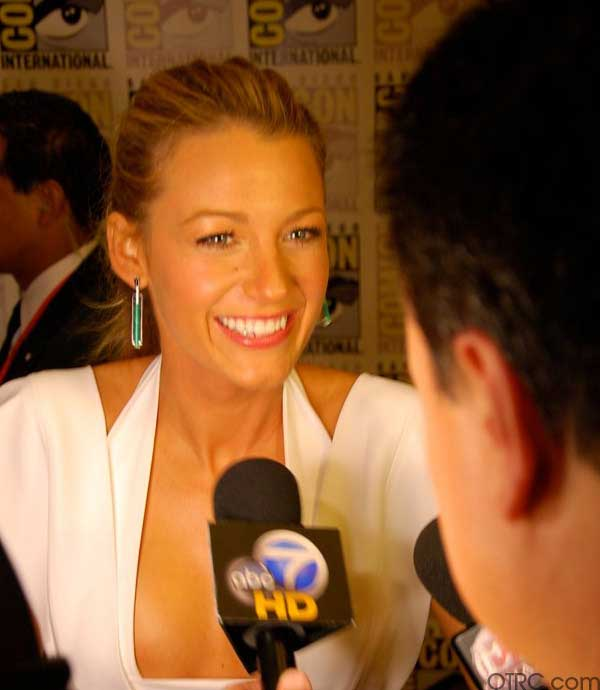 Actress Blake Lively was seen at Comic-Con in San Diego on Saturday July 24, 2010.