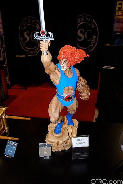 Lion-O from Thundercats was just one of the items seen at Comic-Con in San Diego on Saturday July 24, 2010.