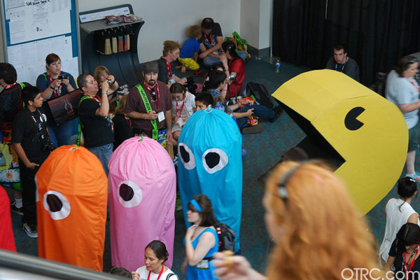 PacMan and his ghosts were just few of the costumes seen at Comic-Con in San Diego on Saturday July 24, 2010.