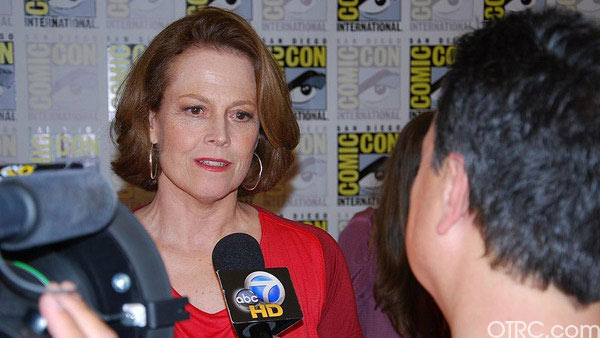 Actress Sigourney Weaver was seen at Comic-Con in San Diego on Saturday July 24, 2010.