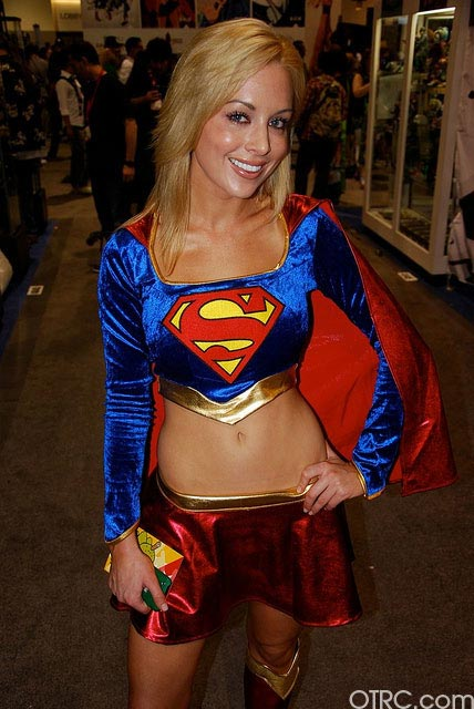 Supergirl was just one of the costumes seen at Comic-Con in San Diego on Saturday July 24, 2010.