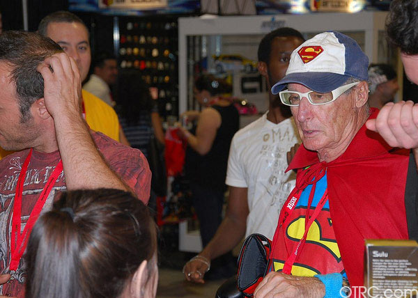 Superman was just one of the costumes seen at...