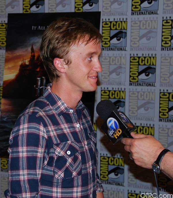 Actor Tom Felton from 'Harry Potter' was seen at Comic-Con in San Diego on Saturday July 24, 2010.