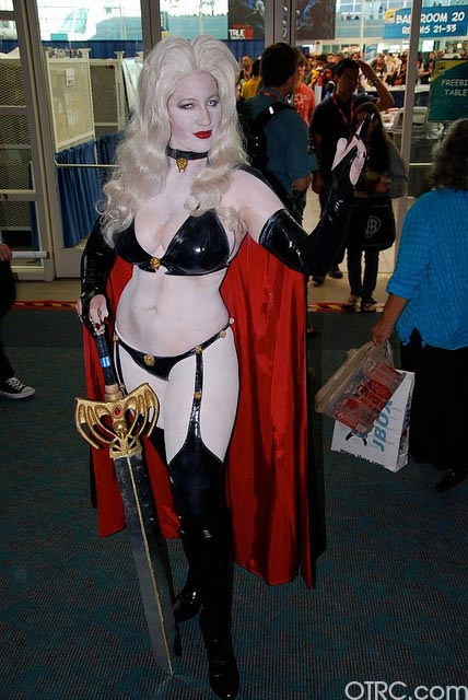 Just one of the costumes seen at Comic-Con in San Diego on Saturday July 24, 2010.