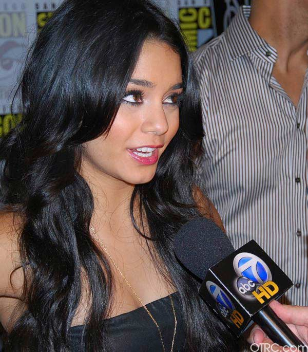 Actress Vanessa Hudgens was seen at Comic-Con in...