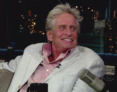 In September 2010, Michael Douglas announced on the &#39;David Letterman Show&#39; that he was diagnosed with throat cancer. He said, &#39;I had a pretty sore throat early this summer and I went through a litany of doctors and they didn&#39;t find anything,&#39; until another medical exam exposed a small tumor. He announced in January 2011 that he has beaten the disease. <span class=meta>(Photo courtesy of CBS)</span>