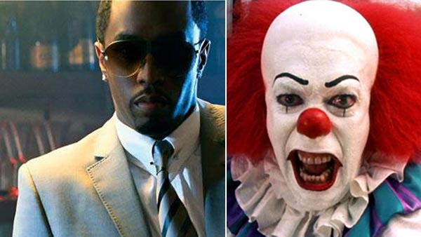 "<div class=""meta image-caption""><div class=""origin-logo origin-image ""><span></span></div><span class=""caption-text"">Sean 'Diddy' Combs is scared of clowns. (Pictured on the right: A scene from the 1990 ABC mini-series 'It', based on the horror novel by Stephen King.) (Diddy's MySpace page / Warner Bros.)</span></div>"
