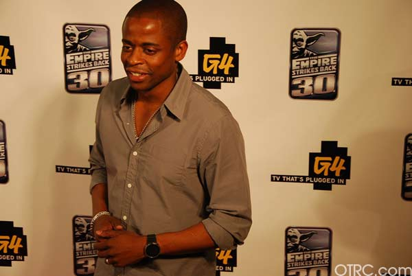 Actor Dulé Hill is seen at Comic-Con in San Diego on Thursday, July 22, 2010.