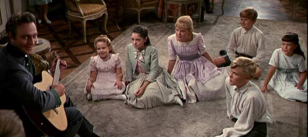 More than 200 children and teenagers, including a young Richard Dreyfus, auditioned to play von Trapp kids. (Pictured: Christopher Plummer (Captain von Trapp) sings 'Edelweiss' to his children in 'The Sound of Music.)