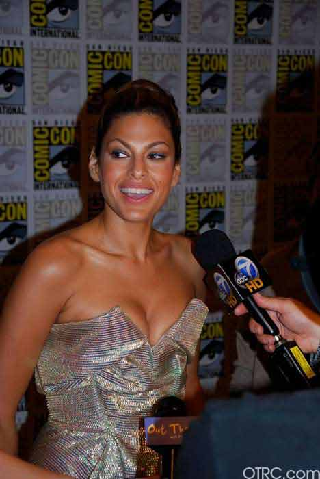 Actress Eva Mendes is seen at Comic-Con in San...