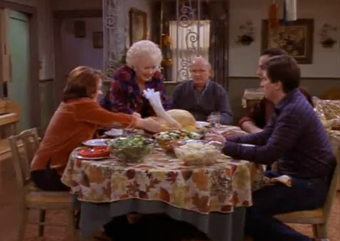 "<div class=""meta ""><span class=""caption-text "">'Everybody Loves Raymond' - 'The Tofu Turkey Thanksgiving': Marie goes on a health craze and tries to make everyone eat Tofurkey (tofu turkey) on Thanksgiving.  In response, Raymond orders a complete holiday meal so that he doesn't have to eat the Tofurkey. (Photo courtesy of CBS)</span></div>"