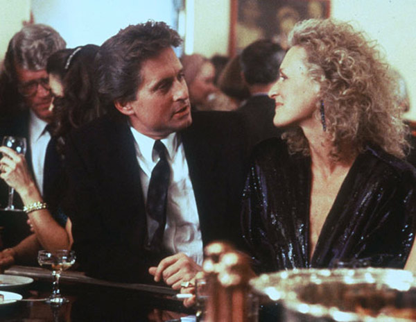 'Fatal Attraction' (1987): Michael Douglas and Glenn Close starred in this thriller, where a one night stand stalks her lo