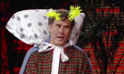 Will Ferrell wore a bedbug costume on 'Live with Regis and Kelly' on Oct. 29, 2010 ahead of Halloween.