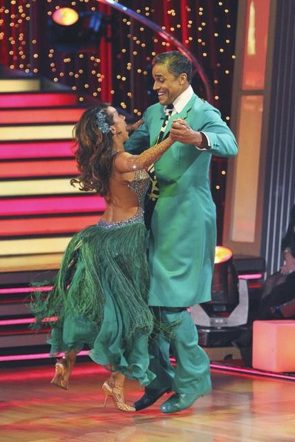 Rick Fox and Cheryl Burke perform a Quickstep on...