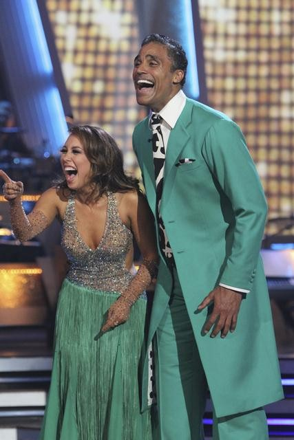 Rick Fox and Cheryl Burke performed a Quickstep on &#39;Dancing With the Stars,&#39; Monday, Nov. 1, 2010. The judges gave the couple 37 out of 40 for individual and 24 points for winning dance marathon for a total 61 out of 70. <span class=meta>(KABC Photo)</span>
