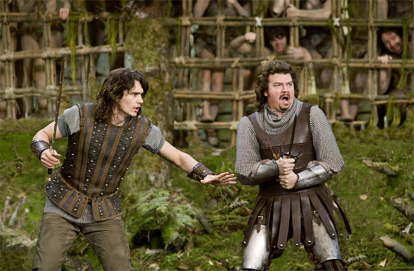 James Franco and Danny McBride as princes Fabious and Thadeous in the 2011 fantasy comedy movie, 'Your Highness.'