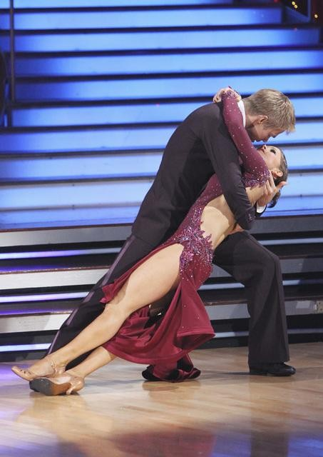 "<div class=""meta image-caption""><div class=""origin-logo origin-image ""><span></span></div><span class=""caption-text"">Jennifer Grey and Derek Hough perform a tango on 'Dancing With the Stars,' Monday, Nov. 1, 2010. The judges gave the couple 37 out of 40 for individual for a total 64 out of 70. (ABC)</span></div>"