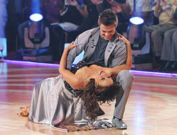Jennifer Grey and Derek Hough perform on 'Dancing With the Stars,' Monday, Oct. 25, 2010. The judges gave the couple 20 out of 30 for individual and 9 points for the dance marathon for a total of 29.