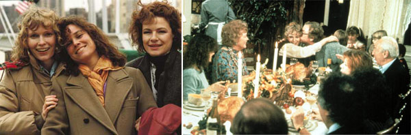 &#39;Hannah and Her Sisters&#39; &#40;1986&#41;. The film is said to be one of Woody Allen&#39;s best and stars Michael Caine, Barbara Hershey, Carrie Fisher and Mia Farrow as Hannah.  The movie is set around Thanksgiving where Hannah&#39;s family gathers for a holiday celebration in New York City.  During this Thanksgiving, hearts are broken and repaired in surprising ways. <span class=meta>(Photo courtesy of Orion Pictures Corporation)</span>