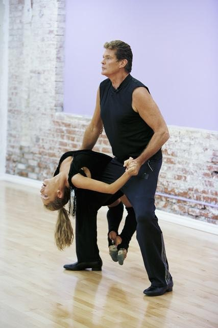 "<div class=""meta image-caption""><div class=""origin-logo origin-image ""><span></span></div><span class=""caption-text"">David Hasselhoff of 'Baywatch' fame teams up with Season 9 champion Kym Johnson. (ABC/Greg Zabilski)</span></div>"