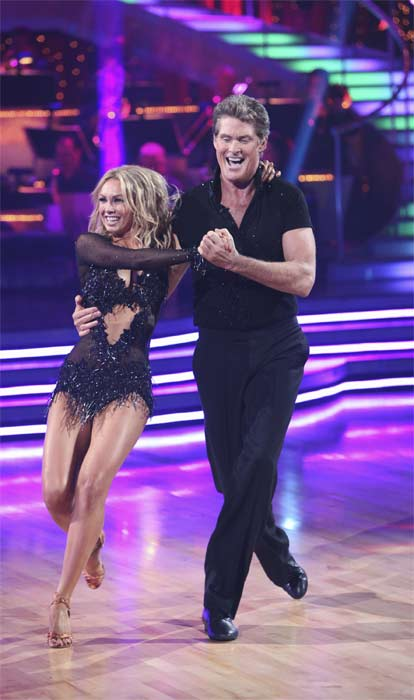"<div class=""meta ""><span class=""caption-text "">David Hasselhoff and Kym Johnson perform on 'Dancing With the Stars,' Monday, Sept.  20, 2010. The judges gave the couple 15 points out of 30. (ABC Photo/ Adam Larkey)</span></div>"