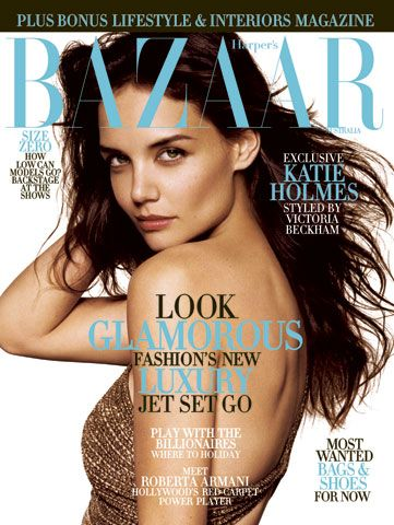 Victoria &#39;Posh&#39; Beckham styled Katie Holmes for her photo shoot cover of &#39;Harper&#39;s Bazaar&#39; in 2007.  <span class=meta>(Photo courtesy of Phillip Haynes)</span>