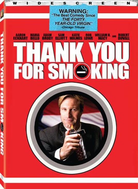 In a 2006 screening of 'Thank You for Smoking' the nude sex scene between Katie Holmes and Aaron Eckhart was inexplicably cut from the movie.  The scene was later placed back in the movie for the theatrical release.