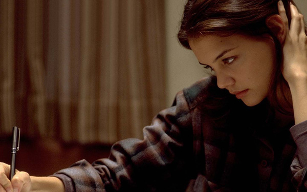 In the movie, 'Wonder Boys', Katie was only on screen for six and half minutes. Pictured: Katie Holmes in a scene from 'Wonder Boys'.