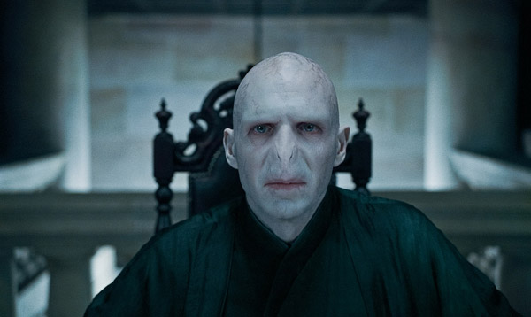 Lord Voldemort (Ralph Fiennes) appears in a...