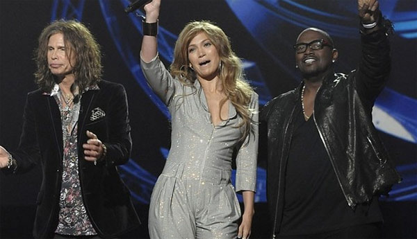 "<div class=""meta ""><span class=""caption-text "">Wednesday and Thursday, Jan. 19-20, 2011: 'American Idol' - Steven Tyler, Jennifer Lopez and Randy Jackson make up the new judges of the hit singing contest reality show, which returns for season 10 on FOX at 8 p.m. ET. (Pictured: Steven Tyler, Jennifer Lopez and Randy Jackson cheer at an event announcing their participation in 'American Idol' on Sept. 22, 2010.) (FOX)</span></div>"