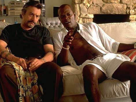 Sally Menke worked as a film editor in Quentin Tarantino&#39;s 1997 movie, &#39;Jackie Brown.&#39; Robert De Niro and Samuel L. Jackson are shown in this scene. <span class=meta>(Photo courtesy of Miramax Films &#47; A Band Apart &#47; Lawrence Bender Productions)</span>